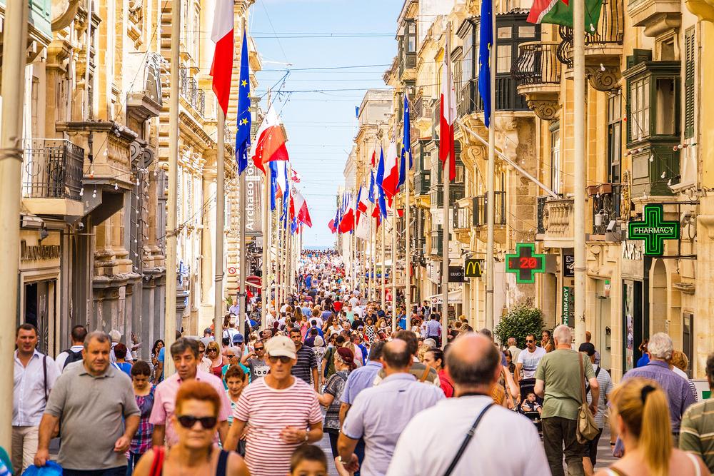 Lượng khách du lịch đổ về quốc gia đáng sống Maltanhiều hơn cả cư dân sống tại đây.
