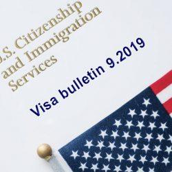 Bản tin thị thực Mỹ - Visa Bulletin tháng 9/2019