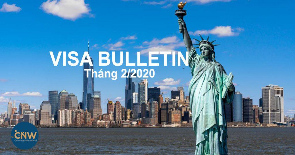 Bản tin thị thực Mỹ tháng 2/2020