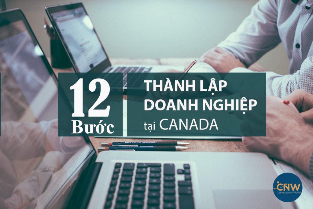 12 bước thành lập doanh nghiệp tại Canada