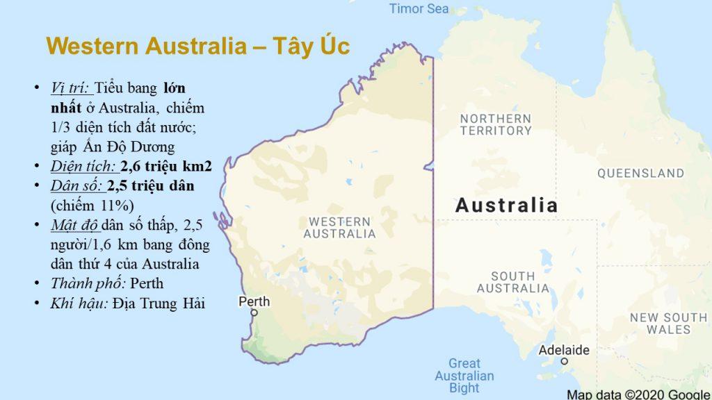 Thông tin về tiểu bang Tây Úc