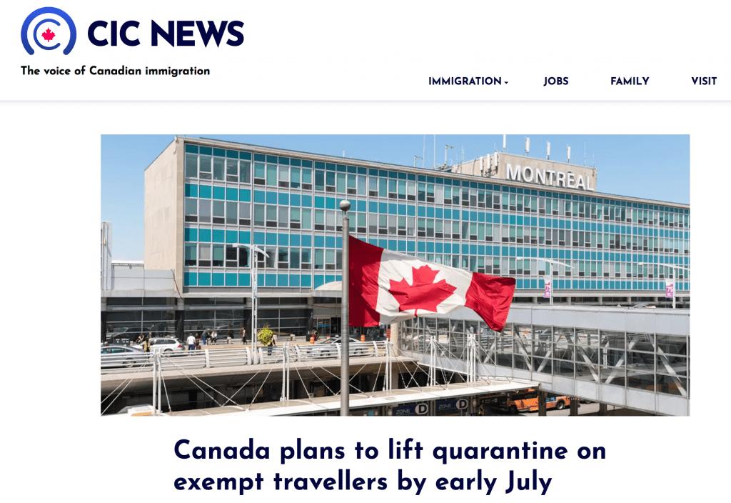 Canada mien cach ly cho nguoi tiem vaccine